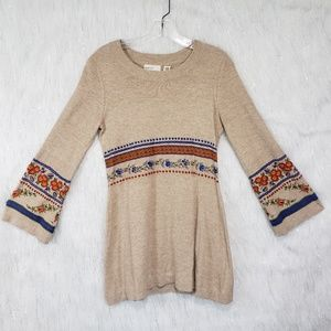 Anthropologie sleeping on snow tunic sweater